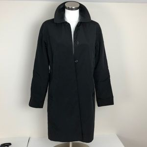 Club Monaco Black Rain Trench Coat
